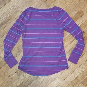 Mossimo Supply Co. Tops - Mossimo striped💜 tee